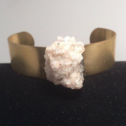 Crystal Brass Cuff