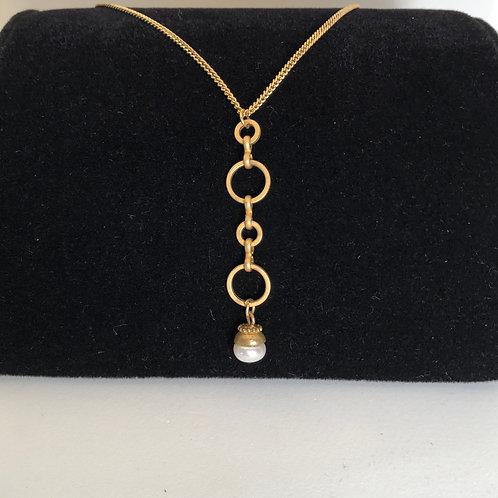 """12 1/2"""" drop pearl necklace"""