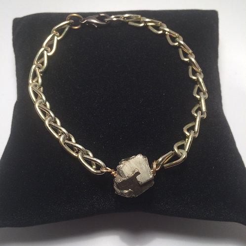 Pyrite Chain Bracelet