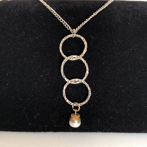 """14"""" drop pearl necklace"""