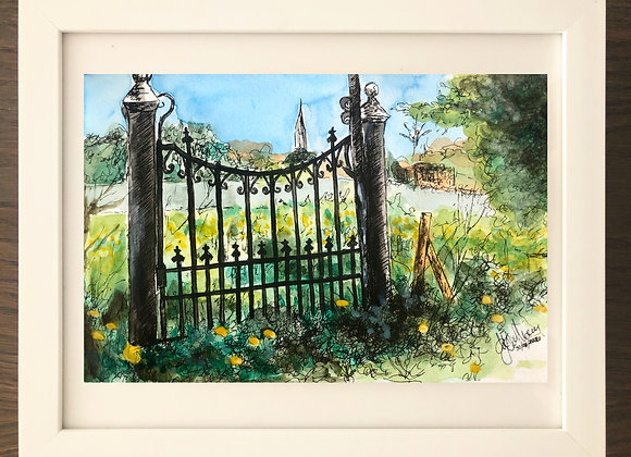 Gate to Fr Colgan House Maynooth