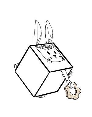 Cube d'éveil Bestiole personnalisé avec le prénom
