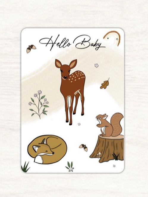 Carte postale biche