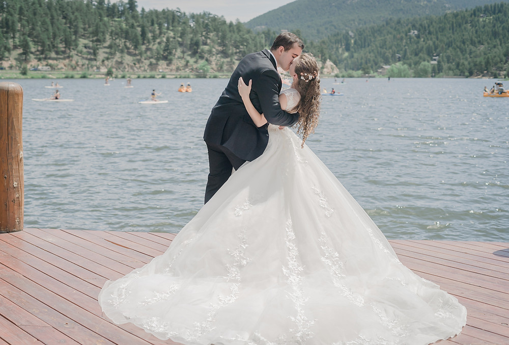Denver wedding photography at Evergreen Lake House