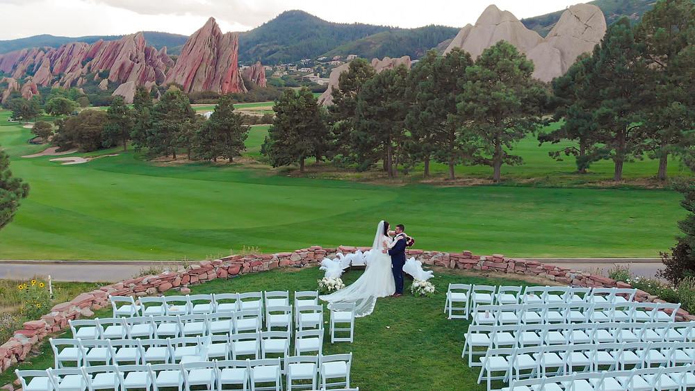 Drone photography at Arrowhead Golf Course in Littleton, Colorado