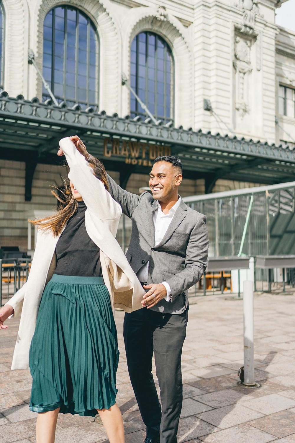 Denver Union Station couples shoot