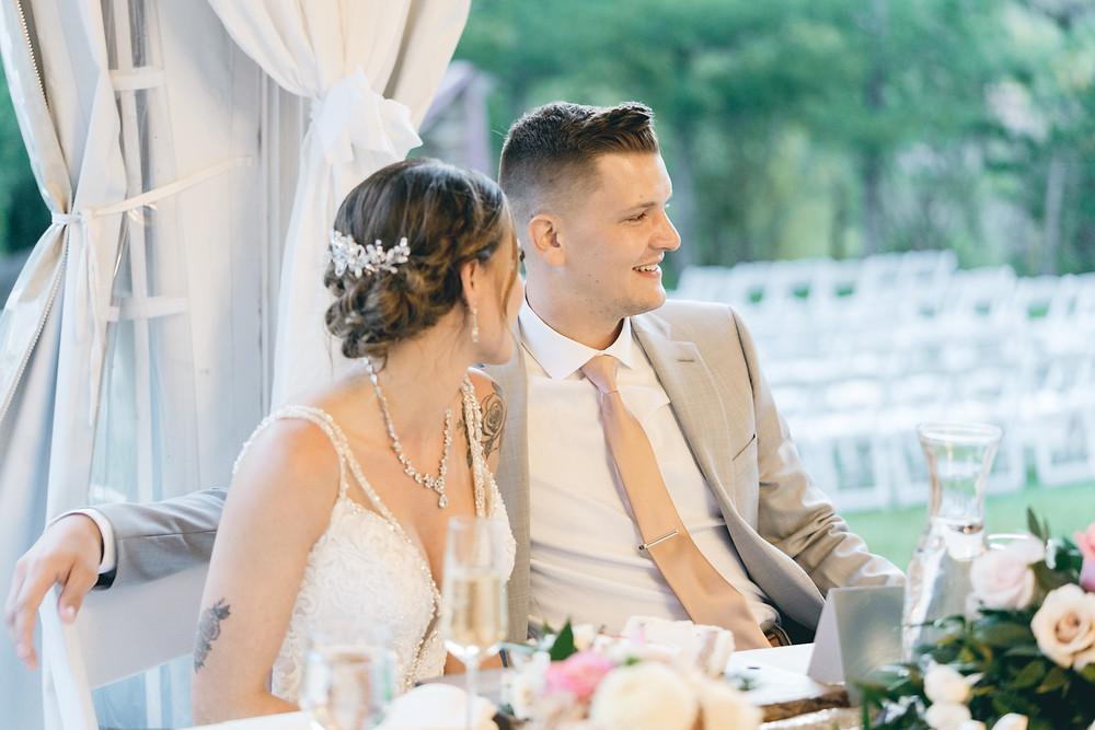 Wedgewood Boulder Creek tent wedding reception photos