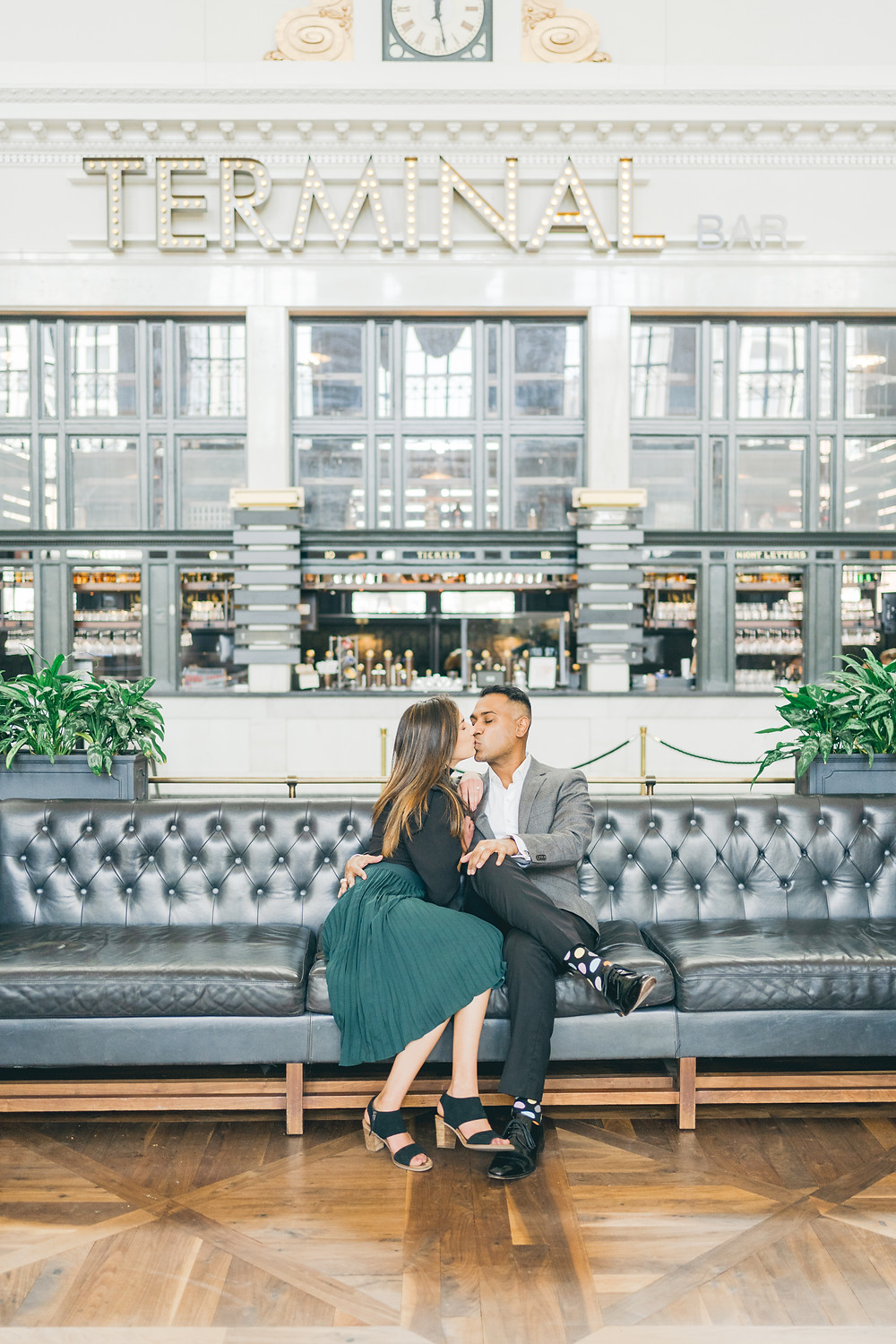Denver Union Station engagement photos