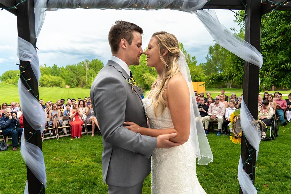 Wedding photographer at Denver Botanic Gardens
