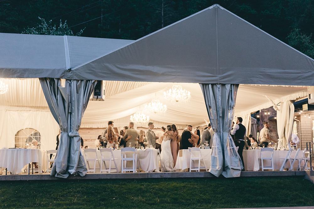 Wedgewood Boulder Creek tent wedding