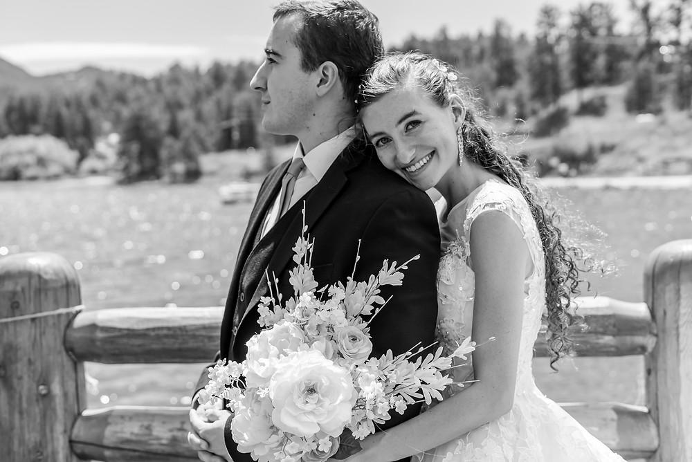 Wedding photographer at Evergreen Lake House in Colorado
