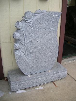 #1447 Carved Rose Teardrop