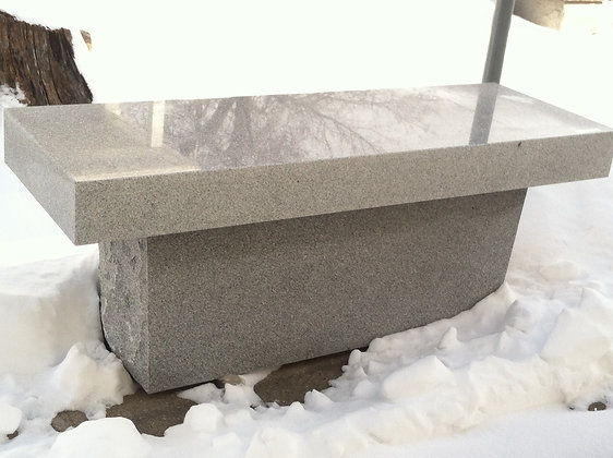 #1541 Gray Pedestal Bench