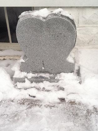 #1543 Light Gray Heart
