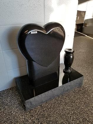 Polished Heart Monument w/ Vase