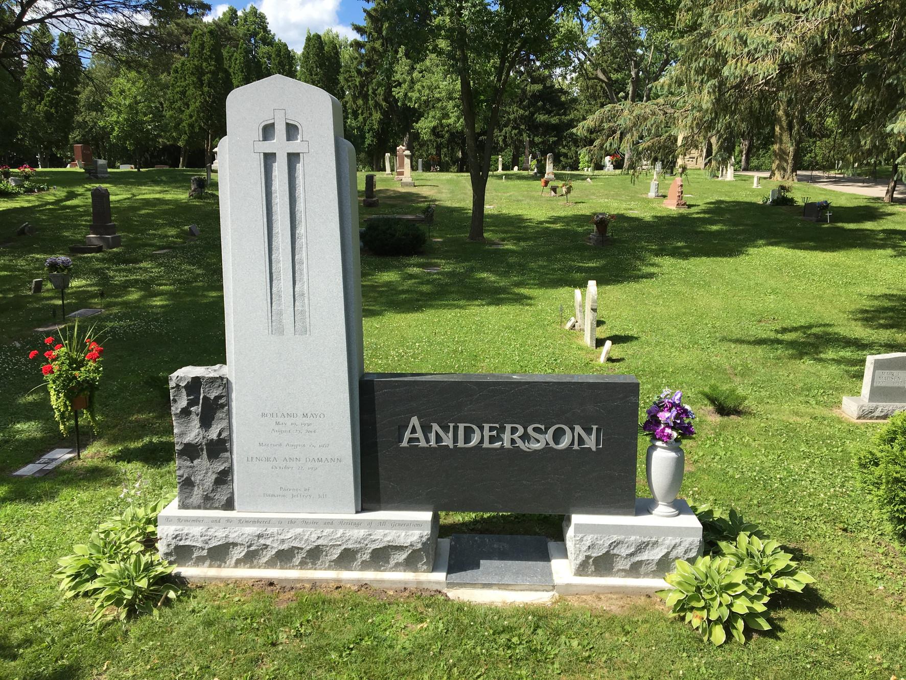Anderson Memorials Headstone Rochester