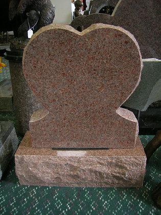 #1396 Morning Rose Heart Monument
