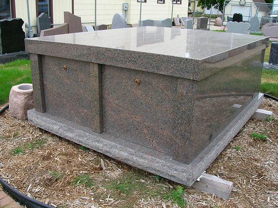 #1454 Double Mausoleum - Red Deer Brown