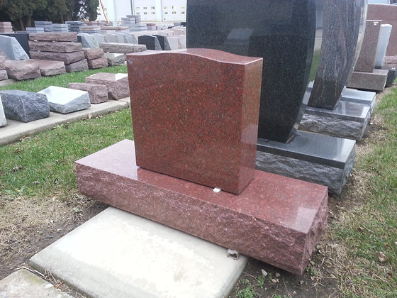 #1599 Red Monument w/ Wide Base