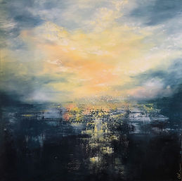 abstract landscape kootenays