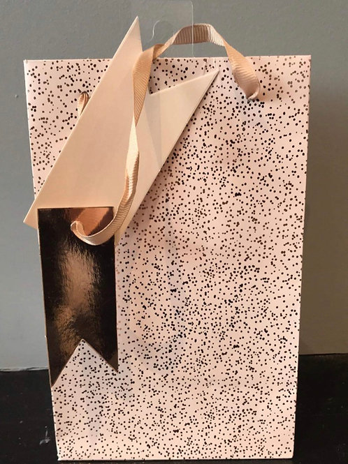 Pink/Gold Sparkle Gift Bag