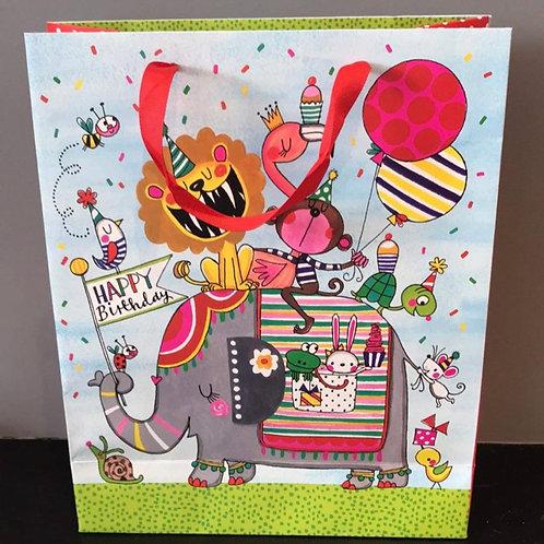 Circus Happy Birthday Gift Bag