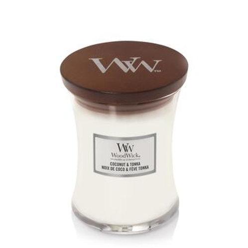 Woodwick Coconut & Tonka Medium Hourglass Candle