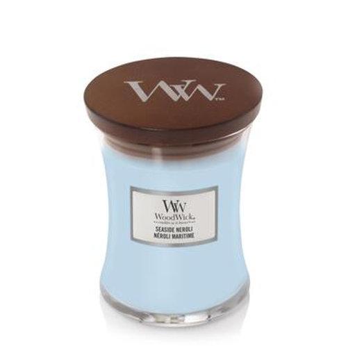 Woodwick Seaside Neroli Medium Hourglass Candle