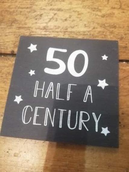 50th Slate Coaster