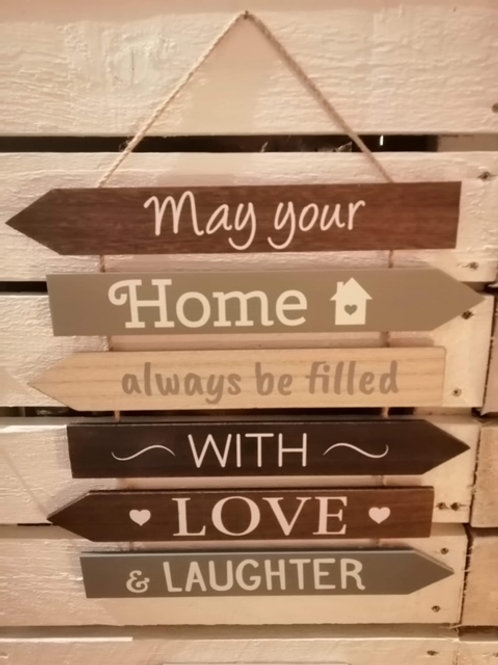 """""""May Your Home"""" Multi Arrow Sign"""
