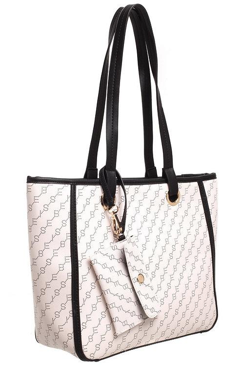 BESSIE PRINT SHOULDER BAG - WHITE