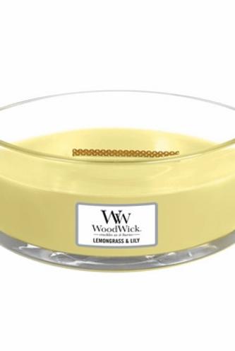 Woodwick Ellipse Lemongrass & Lily Candle