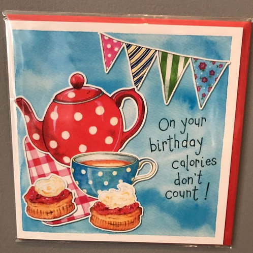Calories don't count .. on your Birthday Card