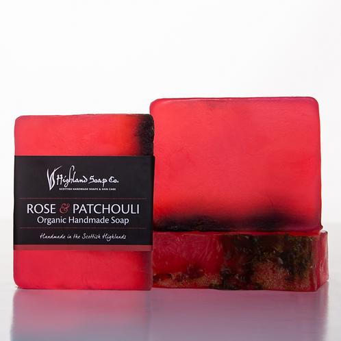 Rose & Patchouli Organic Glycerine Soap