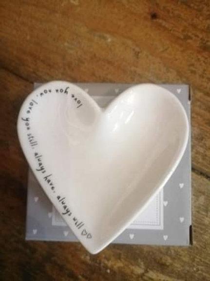 Ceramic Heart Shaped Ring Dish