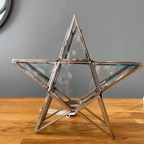 Glass Star Tea-light Holder