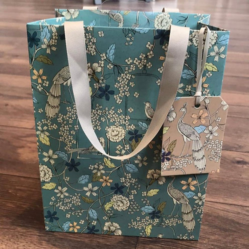 Blue Flora Gift Bag (small)