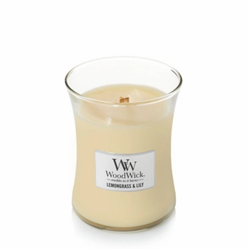 Woodwick Lemongrass & Lily Medium Hourglass Candle
