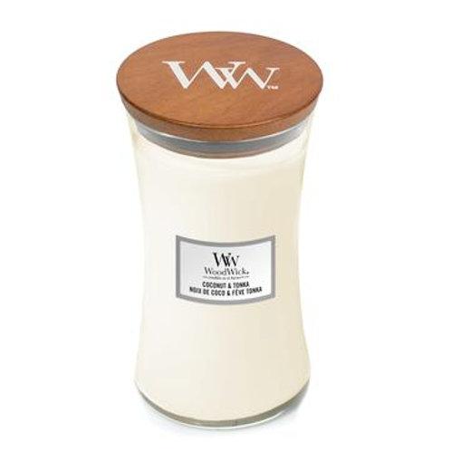 Woodwick Coconut & Tonka Large Hourglass Candle