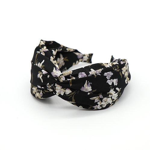 Black Vintage Flower Headband