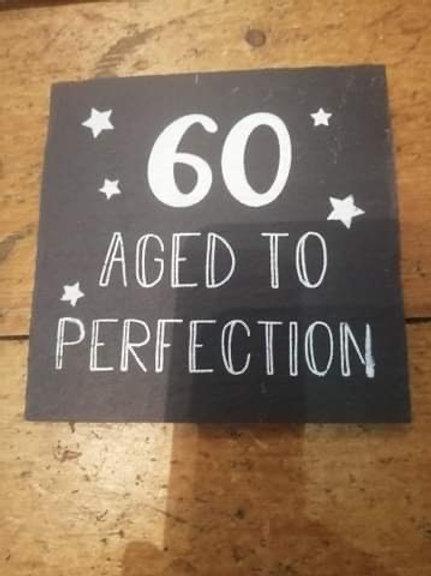60th Slate Coaster