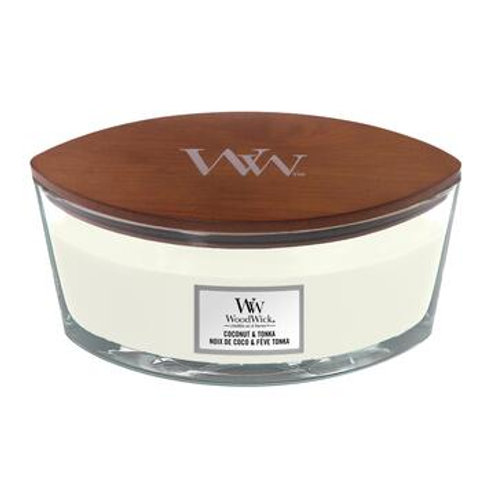 Woodwick Coconut & Tonka Ellipse Candle