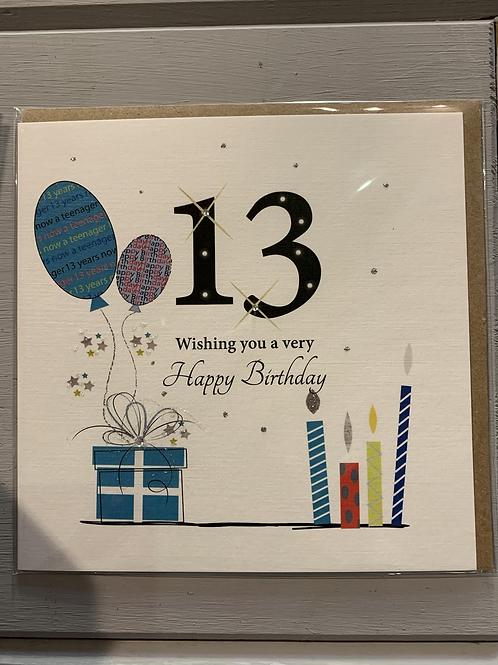 Age 13 Birthday Card
