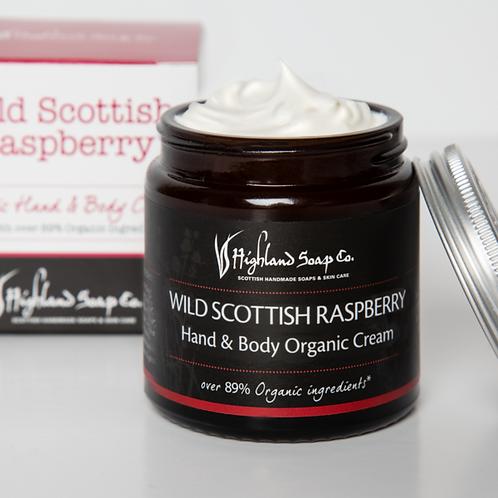 Wild Scottish Raspberry Organic Hand & Body Cream