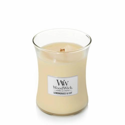 Woodwick Lemongrass & Lily Large Hourglass Candle
