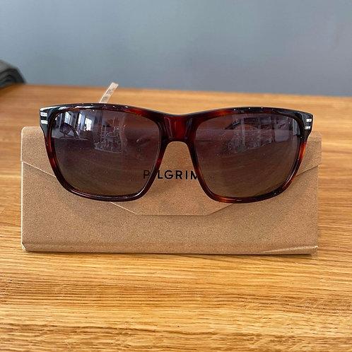 Pilgrim Brown Framed Sunglasses