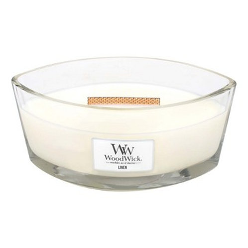 Woodwick Linen Ellipse Candle
