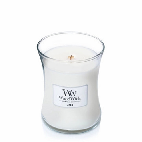 Woodwick Linen Medium Hourglass Candle