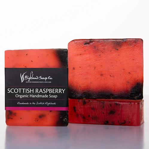 Wild Scottish Raspberry Organic Glycerine Soap