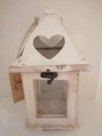 Wooden Lantern with Heart design